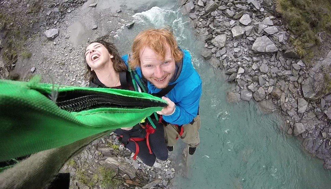 Ed Sheeran at Shotover River