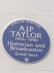 AJP Taylor's Blue Plaque