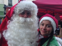 BETTER BE GOOD: FATHER CHRISTMAS AND HIS ELF WILL BE CHECKING AT THE PRIMROSE HILL FESTIVAL, SUNDAY 29 NOVEMBER!
