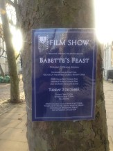 TUESDAY 2 DECEMBER, BABETTE'S FEAST SHOWN BY THE PHCL FILM CLUB