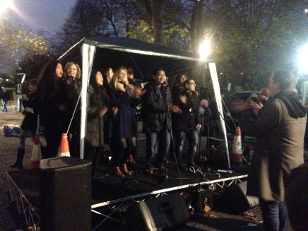 THE 'BIG-SING' CHOIR RAMPED UP THE FESTIVE FEELING