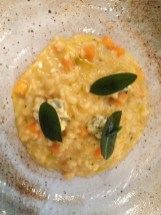 Three of my favourite flavours, a perfectly-cooked risotto and just the right sized portion for lunchtime.