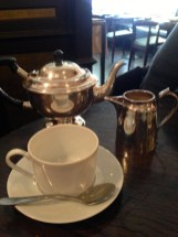 We rubbed at the teapot but no genie appeared...The tea was very nice though.