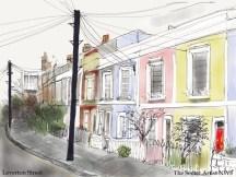 LEVERTON STREET, KENTISH TOWN, BY THE SECRET ARTIST
