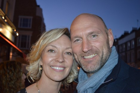 LYDIA'S DAUGHTER ALICE WITH HER HUSBAND, FORMER ENGLAND RUGBY CAPTAIN LAWRENCE DALLAGLIO