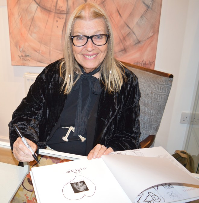 LYDIA SIGNING MY COPY OF 'I WAS SYLVETTE'