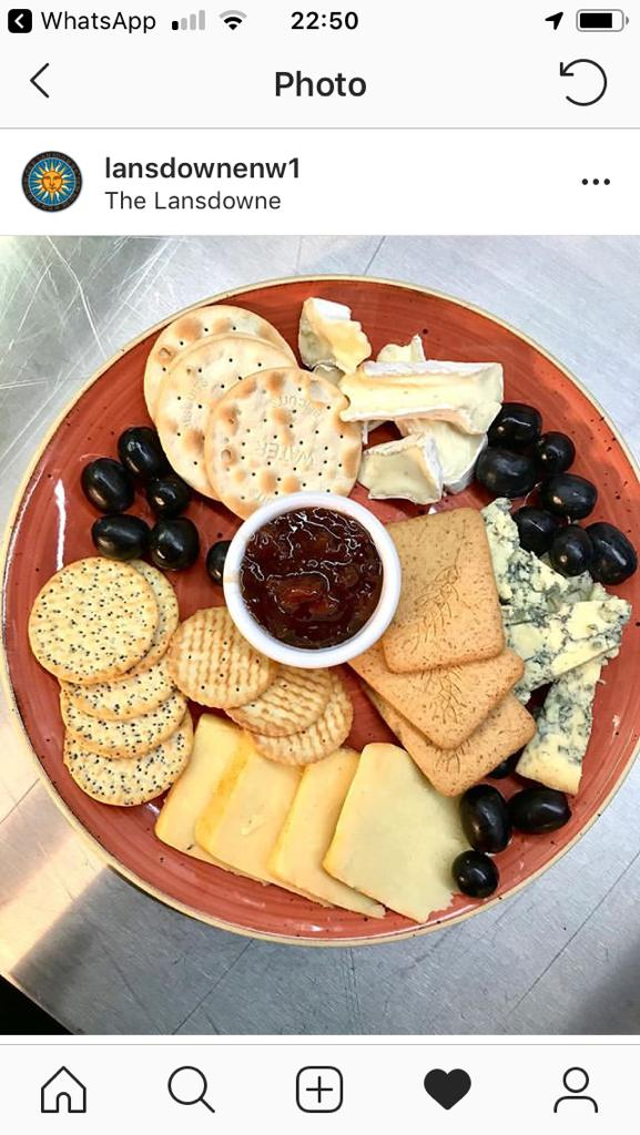 HOW THE CHEESEBOARD LOOKS ON THE LANSDOWNE TWITTER FEED