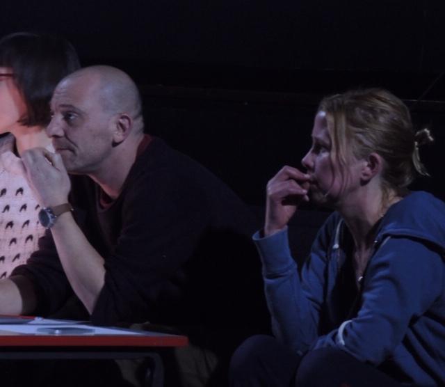 Maika Klaukien (right) working with lighting director Jonathan Samuels