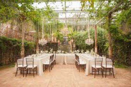 Green Wedding Reception idea