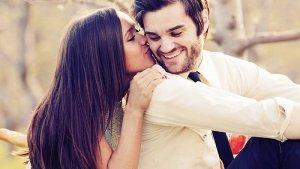 before a romantic kiss