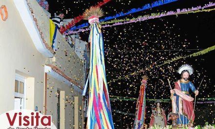 Emotiva llegada de Santa Úrsula a La Corujera