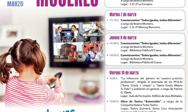 La educación en igualdad centra el programa conmemorativo del Día de la Mujer en Santa Úrsula
