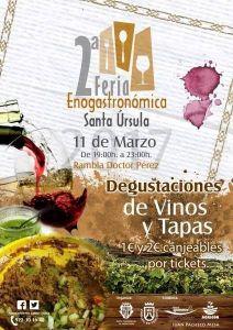 Cartel II Feria Enogastronomica de Santa Ursula