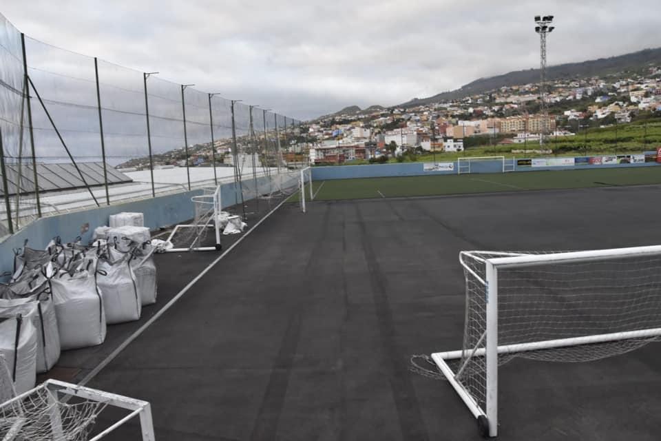 Obras campo de Futbol Argelio Tabares