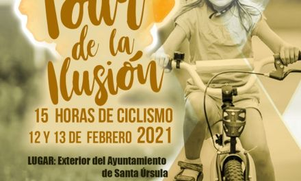 El Tour de la Ilusión 'pedalea' en Santa Úrsula por una causa solidaria