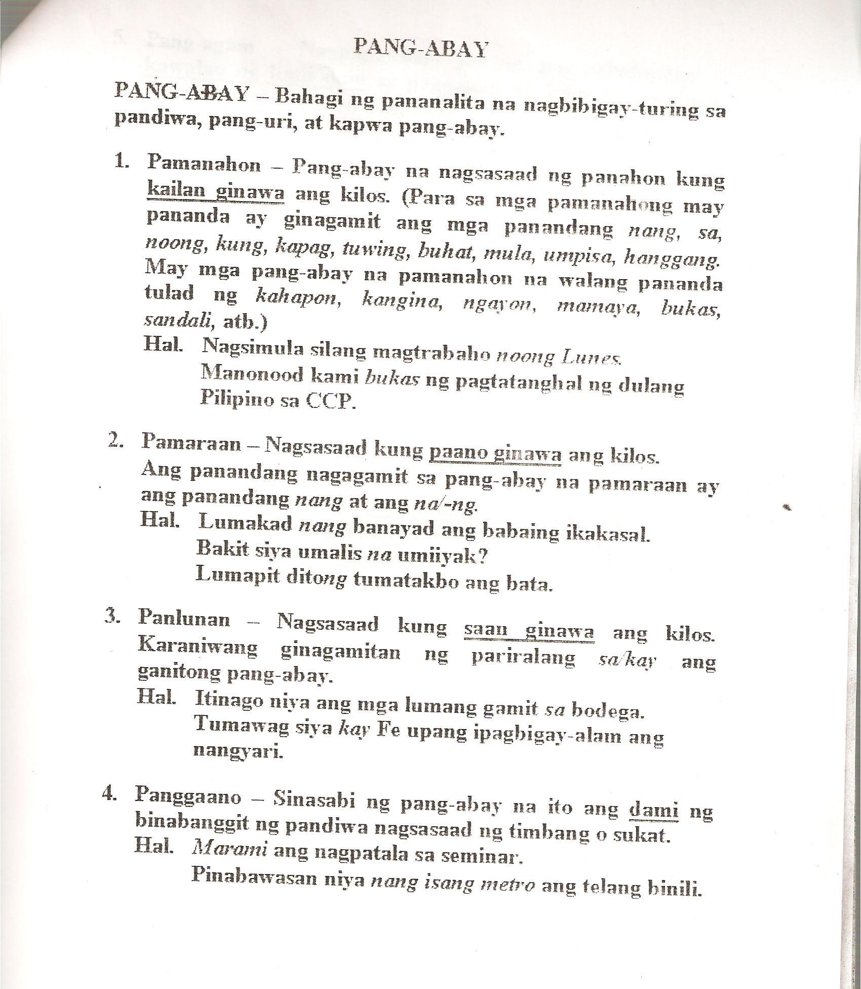 Worksheets In Filipino Grade 1 Pandiwa
