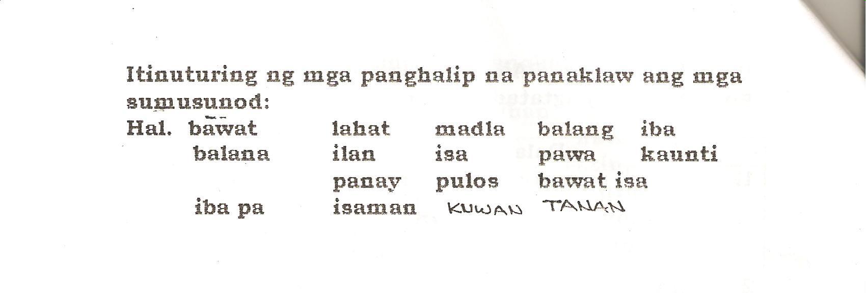 Filipino Part 2 Grammar Handouts