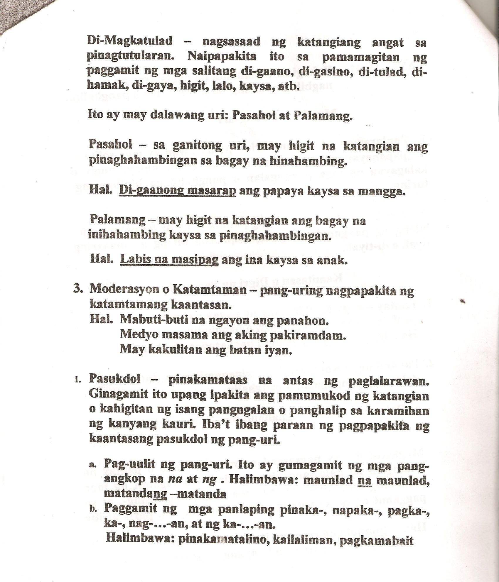 Uri Ng Panghalip Worksheet For Grade 4