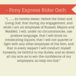 Oath of the Pony Express Riders