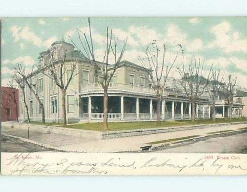 Pre-1907 BENTON CLUB BUILDING St. Saint Joseph Missouri MO