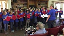 Before the weather turned sour, Field's Tiger Choir shared some sweet sounds throughout St. Joseph Mo on Friday.