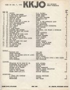 January 7, 1976 Top 25 hits at KKJO