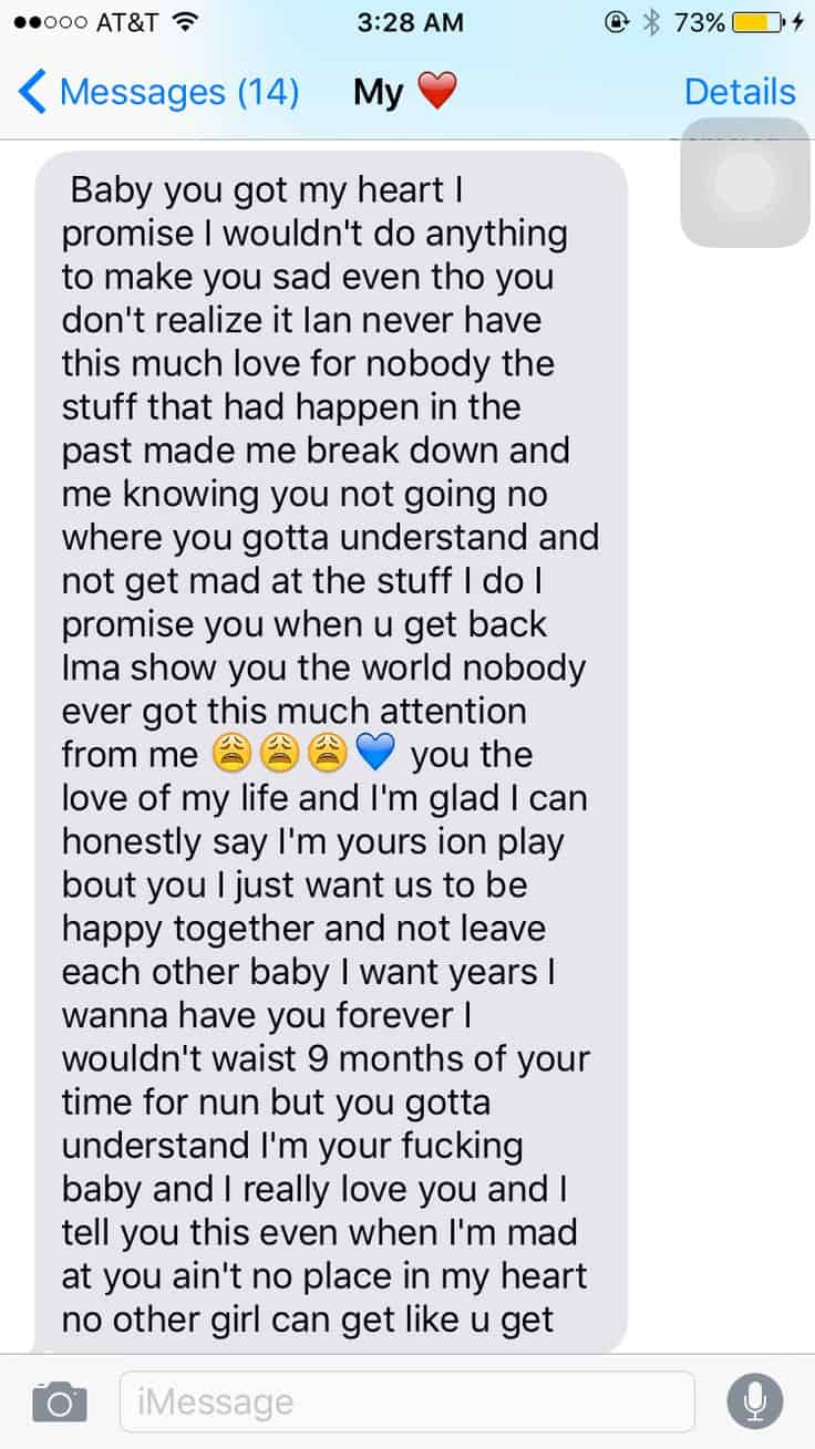 Cute long messages to send to a girl