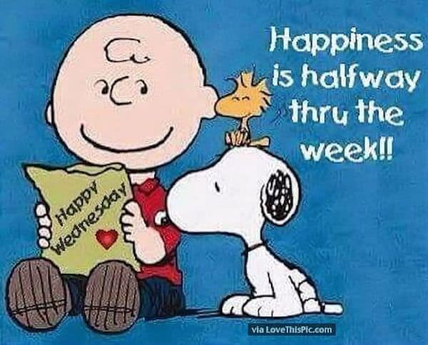 Happiness Is Halfway Through The Week - Good morning Wednesday quotes