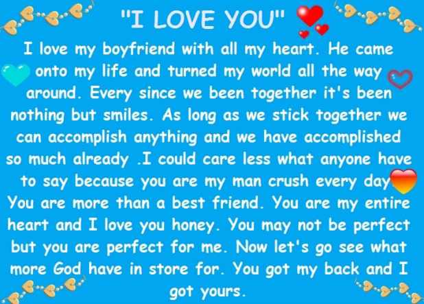 Cute Paragraphs For Him With Emojis