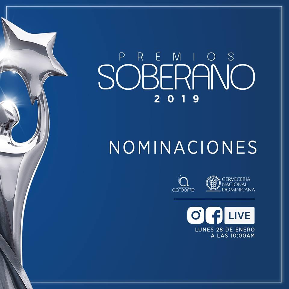 Lista de nominados (Conjunto Tipico) Premios Soberano 2019