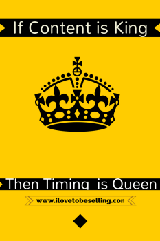If Content is King  the Timing is Queen in Social Media.