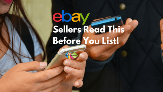 Picture of cell phones users reminds you to research online before listing on eBay