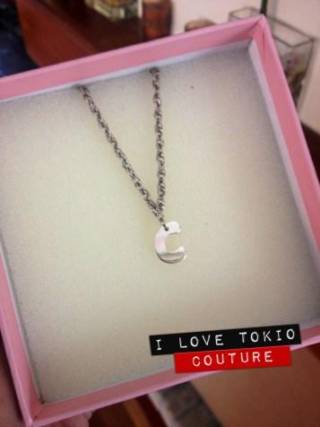 Inicial en Plata i Love Tokio Couture