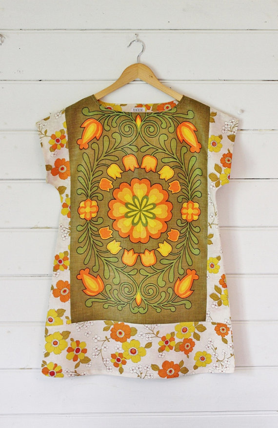 Upcycled Linen Teatowels into ladies t-shirt by A Piece of Pie on Etsy