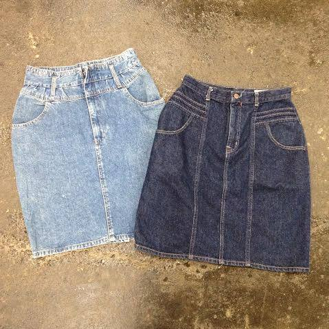 Denim skirts at $10