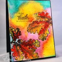 JustRite Papercrafts:  Oak Leaves