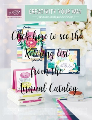 Stampin Up Retiring and Last Chance Products Announced! - I