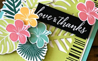 Tropical Chic:  Love and Thanks card