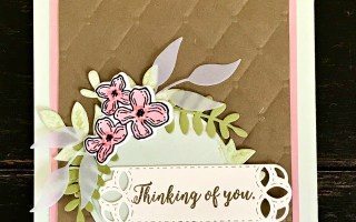 Floral Frames Thinking of You Card