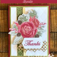 Christmas Rose Thank You Card