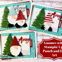 Gnomes Punch and Die Art Christmas Card with a Video