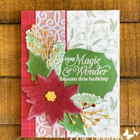 Poinsettia Petals Card