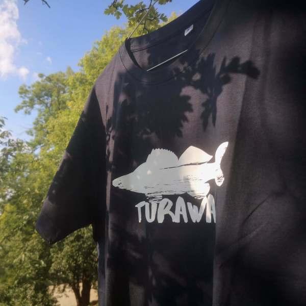 Koszulka meska sandacz Turawa - król Turawy - I Love Turawa - granatowa