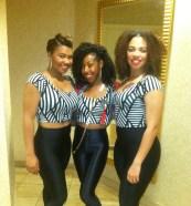 Deja Bryson & Background dancers at Chris Brown's Birthday Party Rozalynn & Keeara