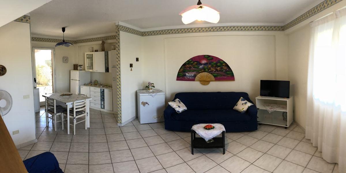 soggiorno dell'appartamento casa la rosa 7p