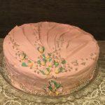 Torta rosa alla frutta e……..buona festa della mamma❤️