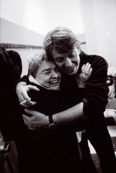 La traduttrice Fernanda Pivano con il cantautore Fabrizio De André