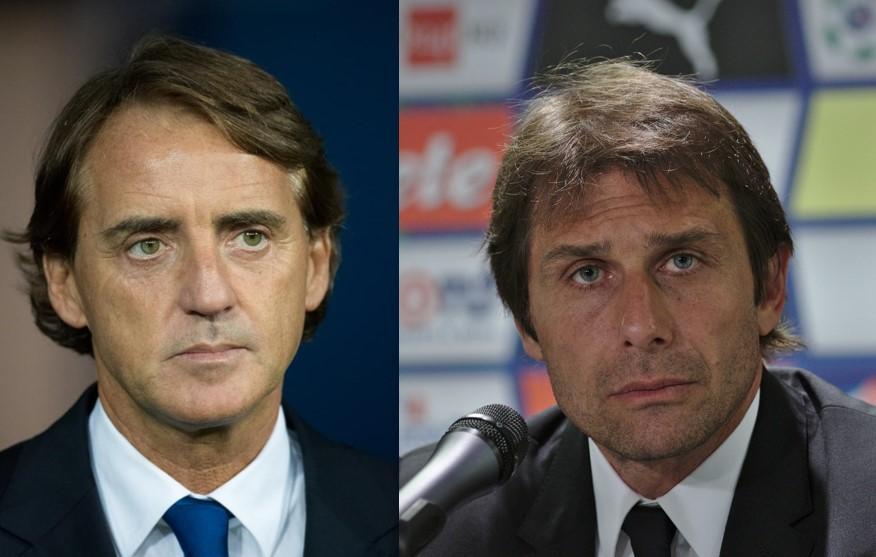 Roberto Mancini e Antonio Conte