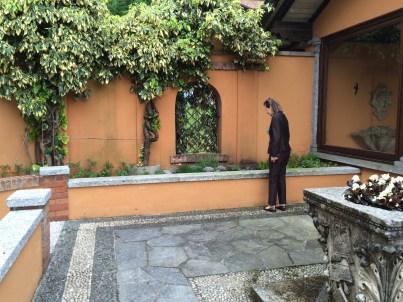 Checking the kitchen garden
