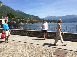 Walking toward Villa Balbianello from Lenno